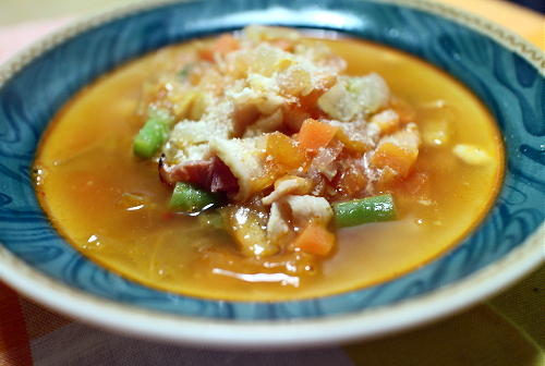 今日のキムチレシピ:キムチミネストローネ