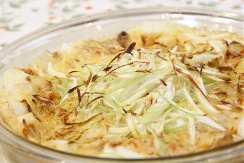 今日のキムチ料理レシピ:もちとキムチのチーズ焼き