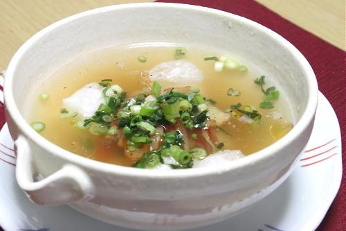 今日のキムチ料理レシピ:お餅の簡単キムチスープ