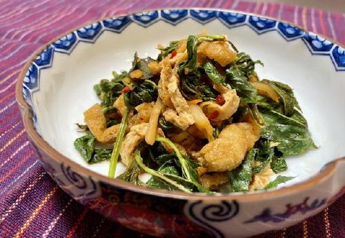 今日のキムチ料理レシピ:モロヘイヤとキムチのさっと煮