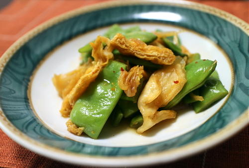 今日のキムチ料理レシピ:モロッコインゲンとキムチのさっと煮