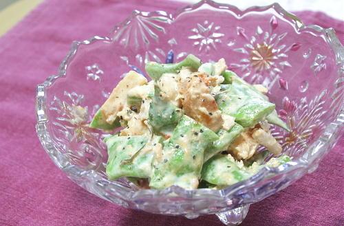 モロッコいんげんと大根キムチのツナマヨサラダレシピ
