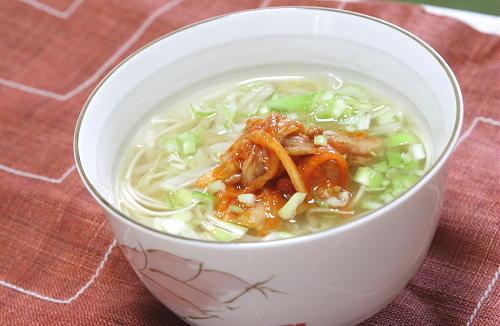 今日のキムチ料理レシピ:キムチ素麺スープ