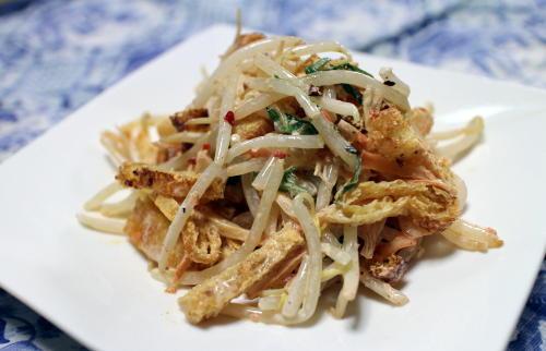 今日のキムチレシピ:もやしとキムチのマヨ和え