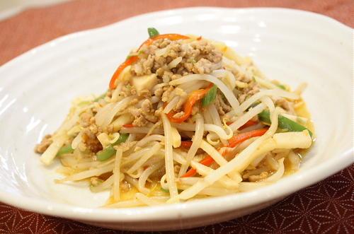 モヤシのピリ辛ひき肉炒めレシピ