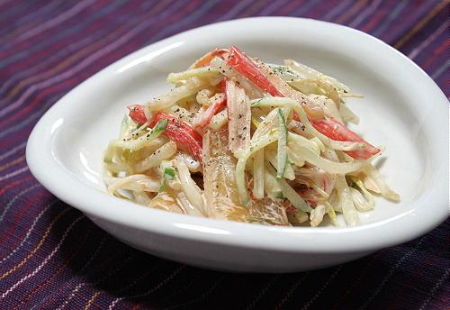 今日のキムチ料理レシピ:もやしとキムチのマヨネーズサラダ