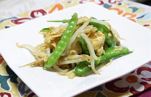 今日のキムチ料理レシピ:もやしのピリ辛卵とじ