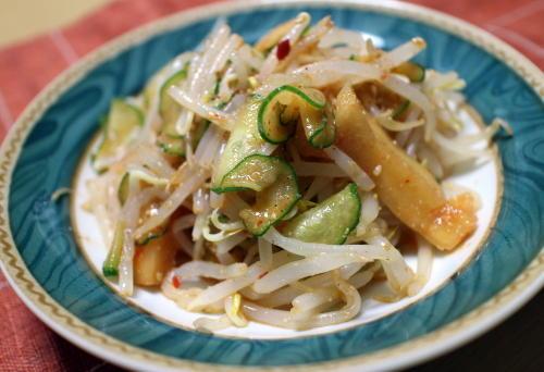 モヤシと胡瓜の大根キムチサラダレシピ