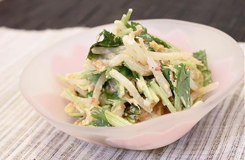今日のキムチ料理レシピ:もやしとキムチのごま和え