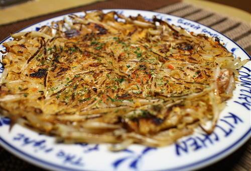 今日のキムチ料理レシピ:もやしとキムチのお焼き