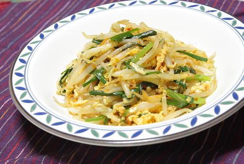 今日のキムチ料理レシピ:もやしのピリ辛卵炒め