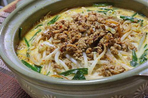 今日のキムチ料理レシピ:担々もやし