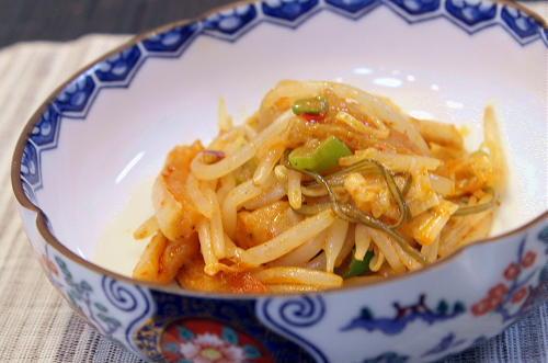 今日のキムチ料理レシピ:割り干しキムチともやしのマヨネーズ炒め