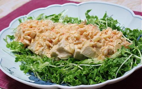 今日のキムチ料理レシピ: 蒸し鶏のキムチマヨソースがけ
