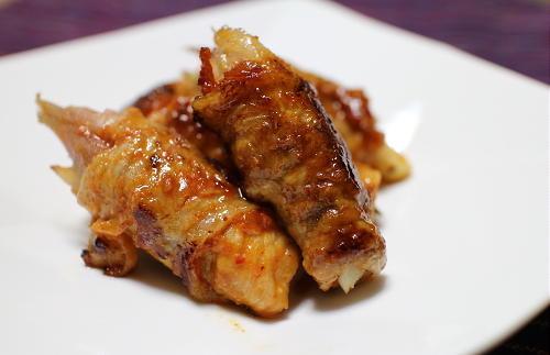 今日のキムチ料理レシピ:みょうがのピリ辛豚肉巻き