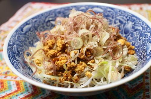 今日のキムチ料理レシピ:みょうがのピリ辛素麺
