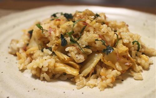 今日のキムチ料理レシピ:みょうがの梅キムチチャーハン