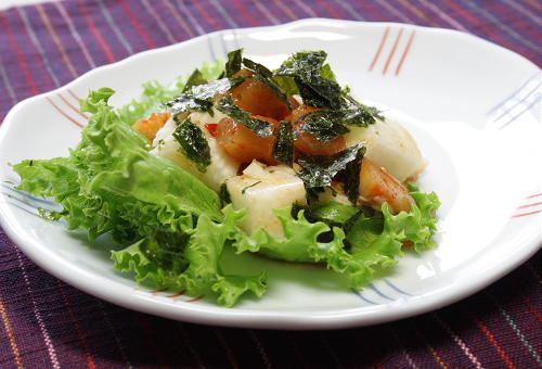 長芋と大根キムチのポン酢しょうゆ和えレシピ