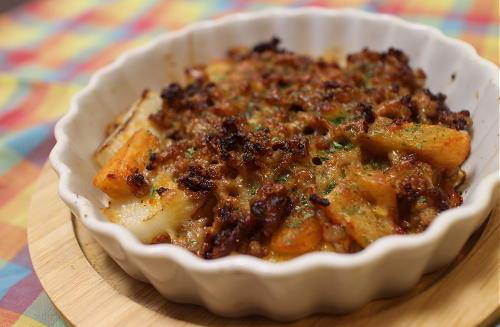 今日のキムチレシピ:長芋と大根キムチのひき肉チーズ焼き
