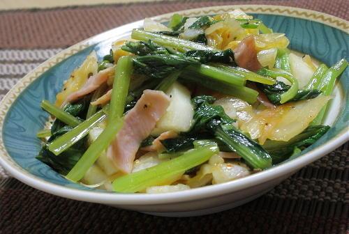 今日のキムチ料理レシピ:長芋とキムチの甘酢炒め