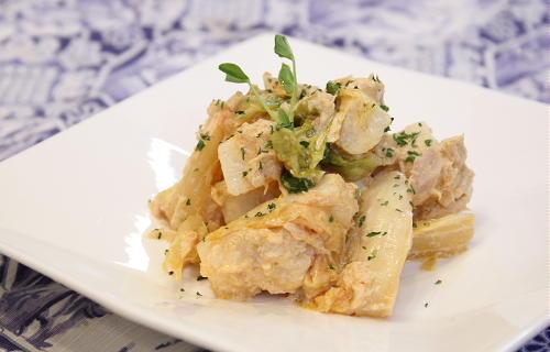 今日のキムチ料理レシピ:長芋とツナのキムチサラダ