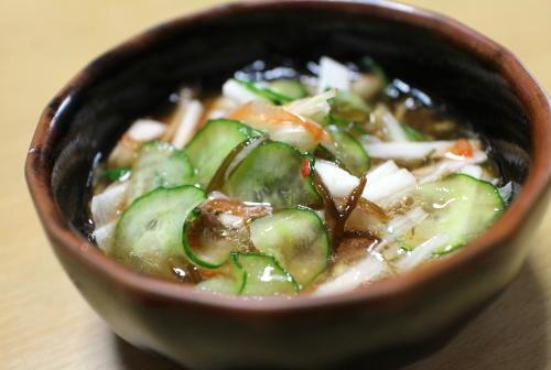 今日のキムチ料理レシピ:長芋キムチもずく