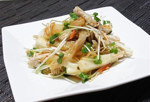 今日のキムチ料理レシピ:長芋とキムチのサラダ