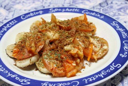今日のキムチ料理レシピ:長芋とトマトのキムチ焼き
