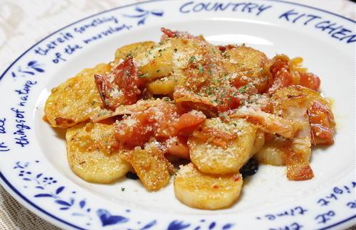今日のキムチ料理レシピ:長芋とトマトのキムチ炒め