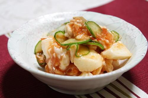 長芋の梅キムチ和えレシピ