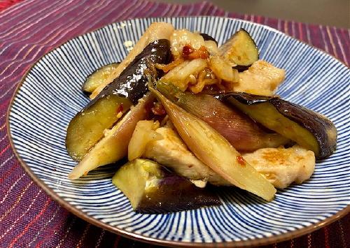 今日のキムチレシピ:豚肉となすのキムチ甘酢和え