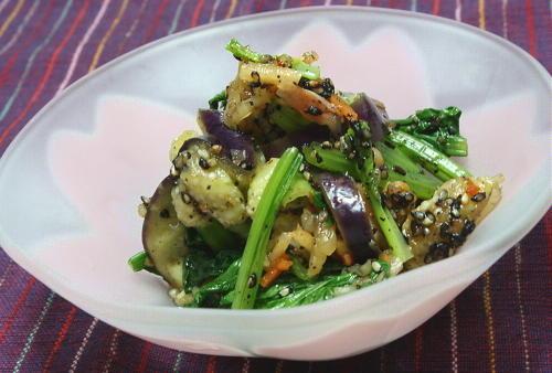 今日のキムチ料理レシピ:小松菜のキムチ胡麻和え