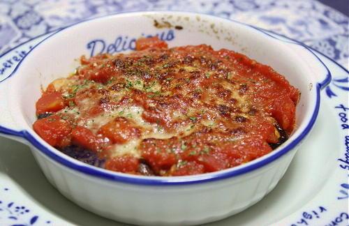 今日のキムチ料理レシピ:茄子のキムチひき肉グラタン