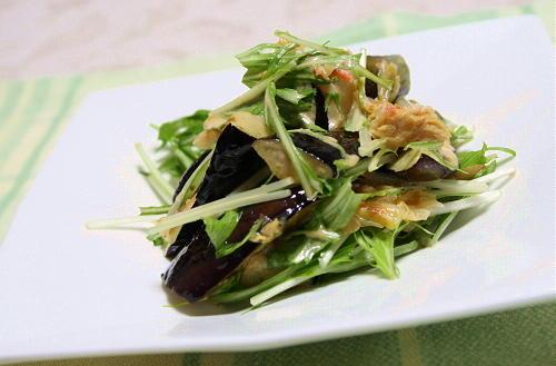 今日のキムチ料理レシピ:茄子とキムチのマヨ醤油和え