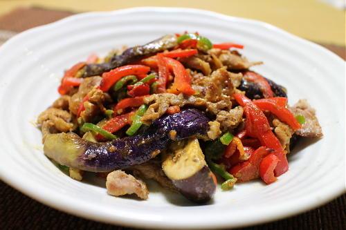 茄子のピリ辛胡麻炒めレシピ