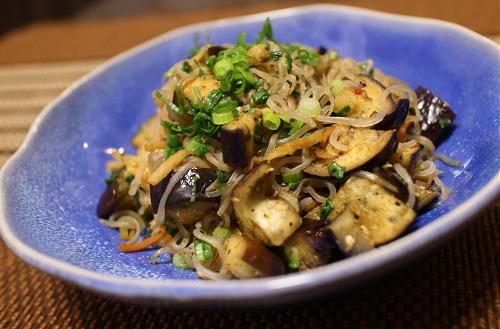 今日のキムチ料理レシピ:なすとキムチの焼きしらたき