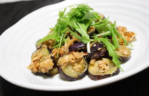 今日のキムチ料理レシピ:なすのツナキムチ炒め
