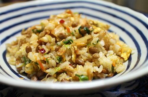 今日のキムチレシピ:納豆キムチチャーハン