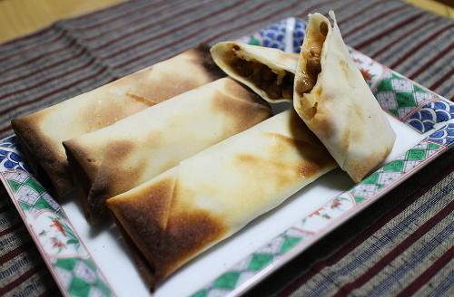 今日のキムチレシピ:焼き納豆キムチ春巻き