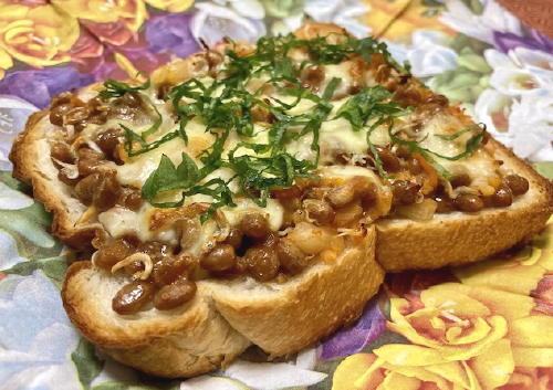 今日のキムチ料理レシピ:納豆キムチトースト