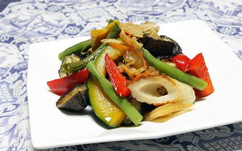 今日のキムチ料理レシピ:夏野菜とキムチの焼き浸し