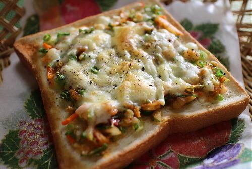 今日のキムチレシピ:ねぎキムチトースト