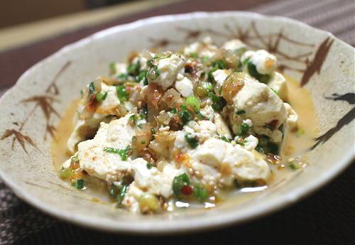 今日のキムチレシピ:ネギキムチくずし豆腐
