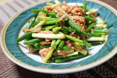 今日のキムチ料理レシピ:葱キムチサラダ