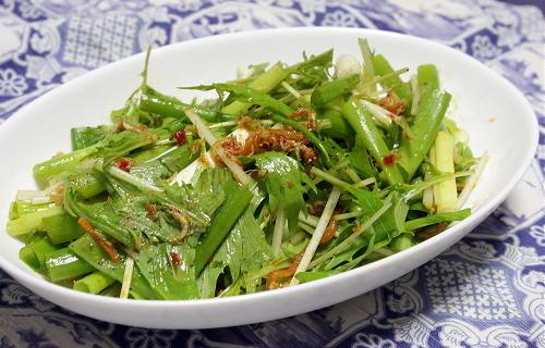 今日のキムチ料理レシピ:青ネギのピリ辛サラダ