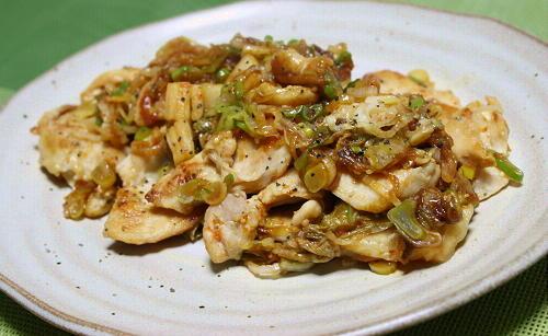 今日のキムチ料理レシピ:鶏肉のネギキムチ焼き