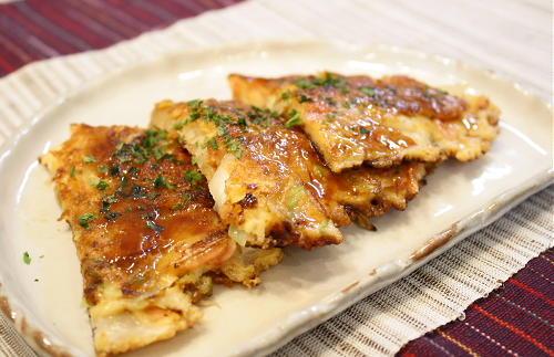 今日のキムチ料理レシピ:ねぎとキムチの甘辛おやき