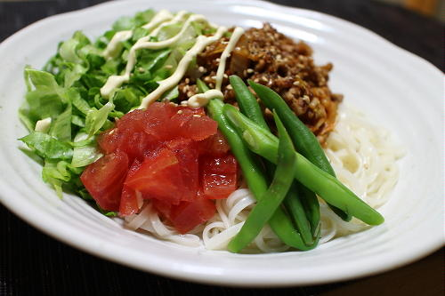 今日のキムチレシピ:キムチ肉みそ稲庭うどん