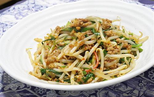 ひき肉ともやしのピリ辛炒めレシピ
