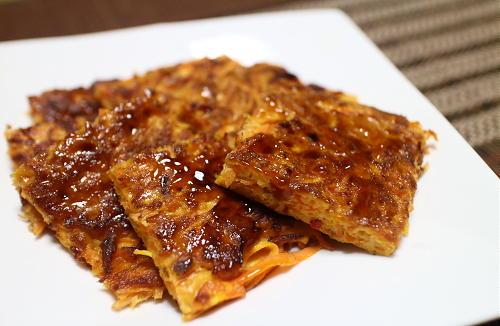今日のキムチ料理レシピ:ニンジンのキムチチヂミ
